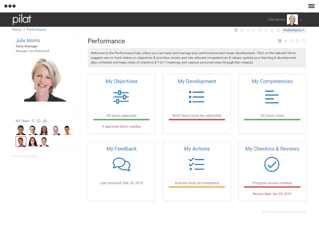 Performance and Talent Management Software | Pilat
